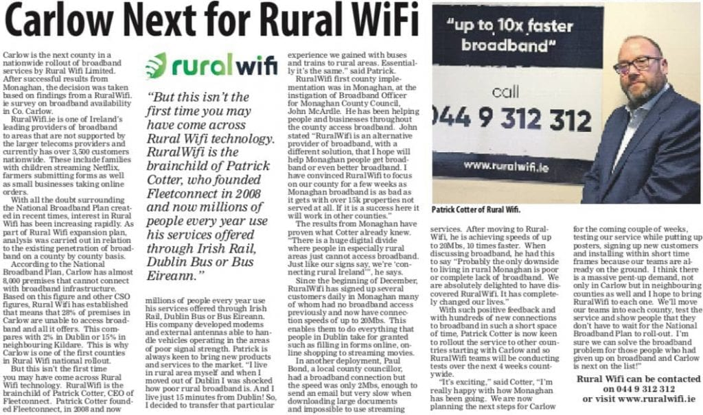 Carlow Next for Rural Wifi 2